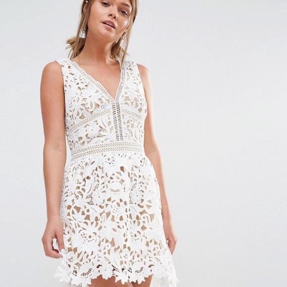 4fd2087056e ASOS Dresses   Skirts - Asos white crochet skater dress